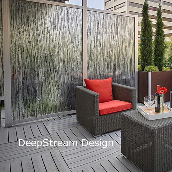 Deepstream Designs Inc Balcony Privacy Screen Wall Landscape Architect