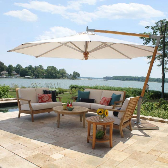 13 Ft Octagon With Base, Articulating Patio Umbrella