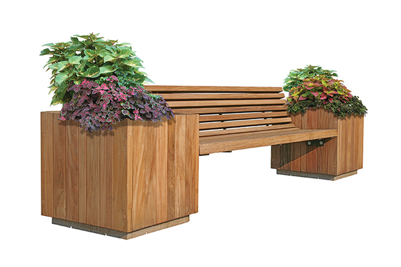 Sitecraft Big Apple Planter Bench Ba Landscape Architect
